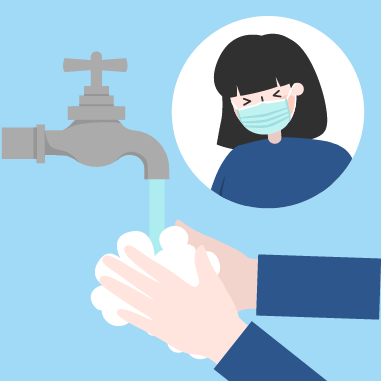 Observe good personal hygiene, especially hand hygiene and proper cough manners